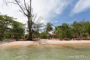 Das Wild Beach Resort in Phu Quoc vom Meer aus